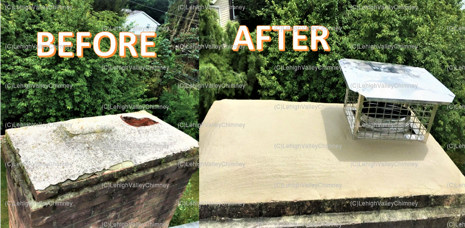 Before/After Chimney Cover 1