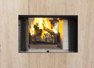 Craftsman See Through Wood Burning Fireplace
