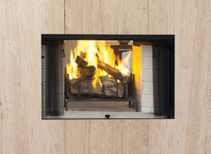 Craftsman See Through Wood Burning Fireplace