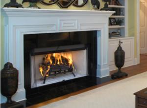 Craftsman Wood Burning Fireplace