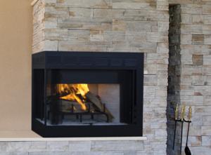 Inglenook Corner Wood Burning Fireplace