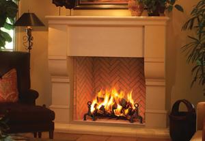 Plantation Wood Burning Fireplace