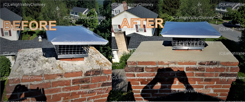 Before/After Chimney Cover 2