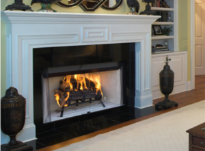 Craftsman Wood Burning Fireplace