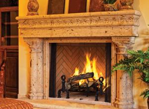 Georgian Wood Burning Fireplace
