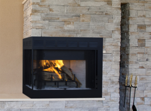 Inglenook Corner Wood Burning Fireplace