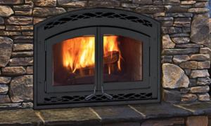 Montecito Estate Wood Burning Fireplace