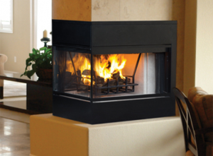Monterey Peninsula Wood Burning Fireplace
