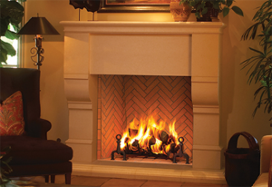 Plantation Wood Burning Fireplace